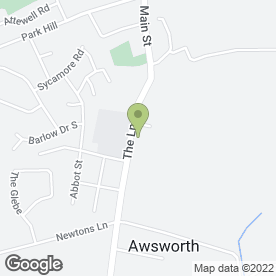 Map of Awsworth School House Day Nursery in Awsworth, Nottingham, nottinghamshire