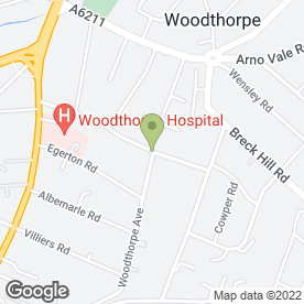Map of Vin Rouge in Woodthorpe, Nottingham, nottinghamshire