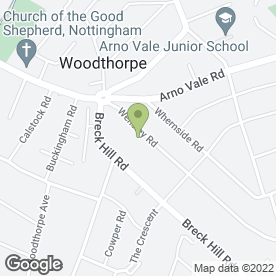 Map of A.C.E.S in Woodthorpe, Nottingham, nottinghamshire