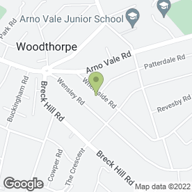 Map of 1st Bathrooms & Kitchens in Woodthorpe, Nottingham, nottinghamshire