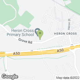 Map of Heron Cross Primary School in Stoke-On-Trent, staffordshire