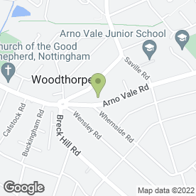 Map of Woodthorpe Dental Care in Woodthorpe, Nottingham, nottinghamshire