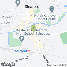 Map of The Bull & Dog in Sleaford, lincolnshire