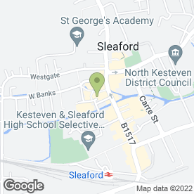 Map of Sainsburys Supermarket Ltd in Sleaford, lincolnshire