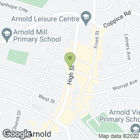 Map of The Arnold Dental Centre in Arnold, Nottingham, nottinghamshire