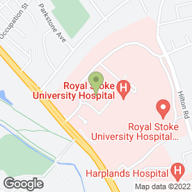 Map of City General Hospital in Stoke-On-Trent, staffordshire