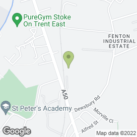 Map of Saltwood Joinery in Fenton, Stoke-On-Trent, staffordshire