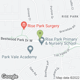 Map of Rise Park Dental Practice in Nottingham, nottinghamshire