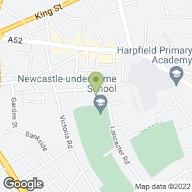 Map of Newcastle-under-Lyme School in Newcastle, staffordshire