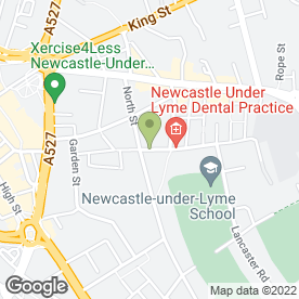 Map of SH Freestyle Martial Arts in Newcastle, staffordshire