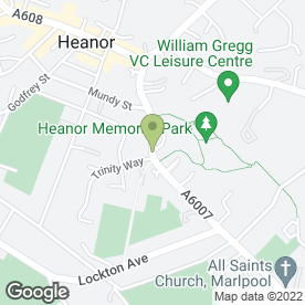 Map of Drs Ahmed, Lodge, Tomkinson & Lynas in Heanor, derbyshire