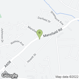 Map of Ashfields Retirement Home in Heanor, derbyshire