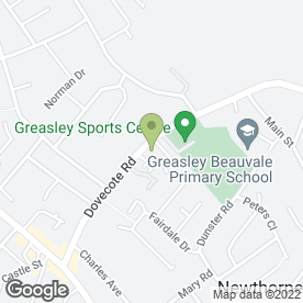 Map of Greasley Community & Sports Centre in Newthorpe, Nottingham, nottinghamshire