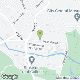 Map of dDeaflinks Staffordshire in Stoke-On-Trent, staffordshire