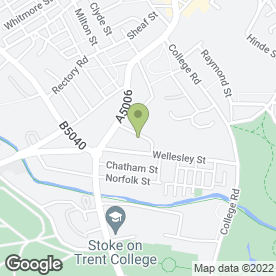 Map of Regency Chartered Management Accountants in Stoke-On-Trent, staffordshire