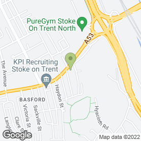 Map of Stoke-on-Trent Chiropractic Clinic in Stoke-On-Trent, staffordshire