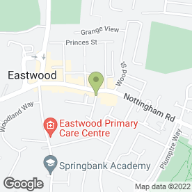 Map of Charles Newton & Co Estate Agents in Eastwood, Nottingham, nottinghamshire