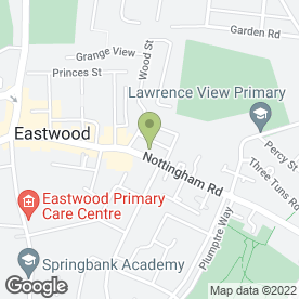 Map of Blockbuster Entertainment in Eastwood, Nottingham, nottinghamshire