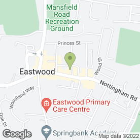 Map of HSBC Bank plc in Eastwood, Nottingham, nottinghamshire