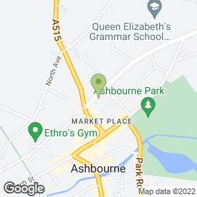 Map of C.W Sellors in Ashbourne, derbyshire