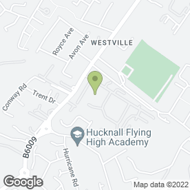 Map of Hucknall Bed Centre in Hucknall, nottinghamshire