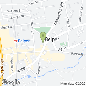Map of Natasha Fox in Belper, derbyshire