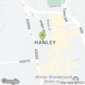 Map of Pronuptia Bridal & Mens Formal Wear in Hanley, Stoke-On-Trent, staffordshire