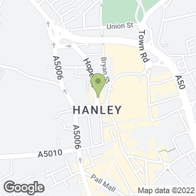 Map of Seven Eleven Beauty & Hairdressing Salon in Hanley, Stoke-On-Trent, staffordshire