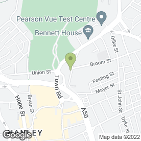 Map of The Church Bar & Restaurant in Hanley, Stoke-on-Trent, staffordshire
