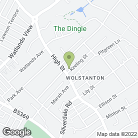 Map of Dr V.V Manudhane Surgery in Wolstanton, Newcastle, staffordshire