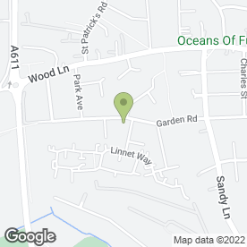 Map of MARK'S TURF & LANDSCAPES in Hucknall, Nottingham, nottinghamshire