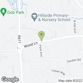 Map of Arrival Roofing in Hucknall, Nottingham, nottinghamshire