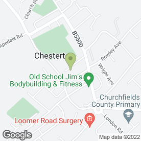 Map of Longstaff Cycles Ltd in Chesterton, Newcastle, staffordshire