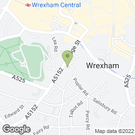 Map of Plas-y-Bryn Medical Centre in Wrexham, clwyd