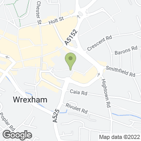 Map of Greggs in Wrexham, clwyd