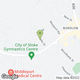 Map of Blake Street Garage in Stoke On Trent, ., staffordshire