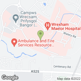 Map of David Ormerod Hearing Centres in Wrexham, clwyd