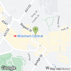 Map of Santander in Wrexham, clwyd