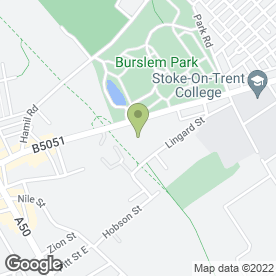 Map of Redguard Security Ltd in Stoke-On-Trent, staffordshire