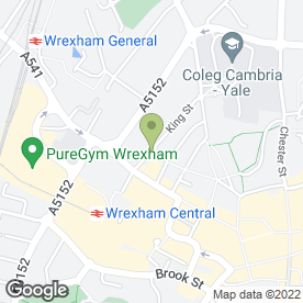 Map of Beresford Adams Lettings in Wrexham, clwyd
