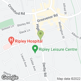 Map of Manders Garage (Ripley) Ltd in Ripley, derbyshire