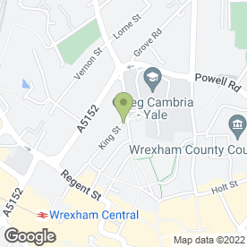 Map of T A Gittins & Co in Wrexham, clwyd