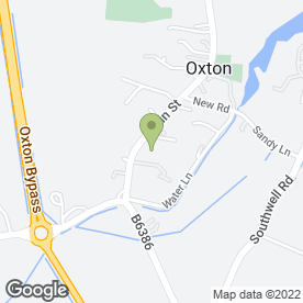 Map of Michael Sanderson Kitchens in Oxton, Southwell, nottinghamshire