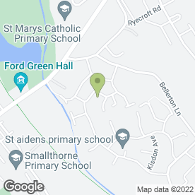 Map of Hughes Flat Roofs in Stoke-On-Trent, staffordshire
