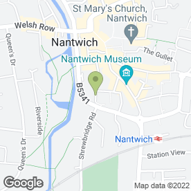 Map of Barringtons in Nantwich, cheshire
