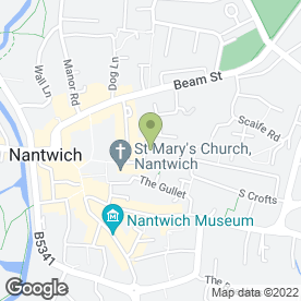 Map of Hall Smith Whittingham in Nantwich, cheshire