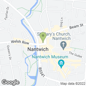 Map of First Choice Travel Shop in Nantwich, cheshire