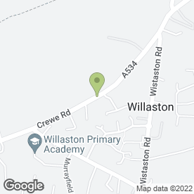 Map of Worldwide Artistic Products in Willaston, Nantwich, cheshire