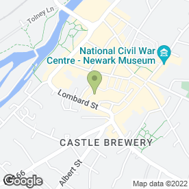 Map of Yorkshire Bank in Newark, nottinghamshire