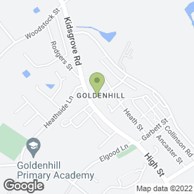 Map of Goldenhill Medical Centre in Stoke-On-Trent, staffordshire